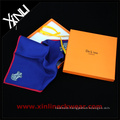 Orange Custom Logo Stamping Packaging Scarf Gift Box