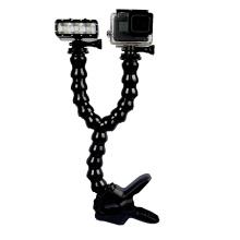 Sport Action Camera Accessories Adjustable Flexible Holder Clamp Tripod Double Neck Mount For GoPro Hero6/ 5/4/3/2 SJCAM