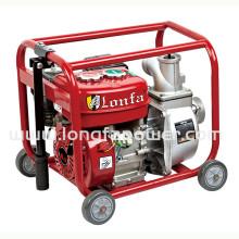Pompe à eau de démarrage manuelle à 3 pouces à vapeur avec roues