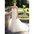 NA1029 Gorgeous Mermaid Sweetheart Pleated Tulle Ivory Bridal Wedding Dress