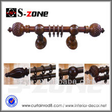 Garden decoration curtain rod natural wood looking curtain tube aluminum material