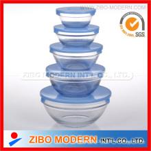Conjunto de tigela de vidro 5PC para forno