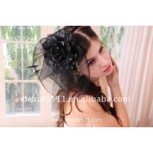 Astergarden Real Foto negro Birdscage boda velos ASJ006