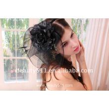 Astergarden реальные фото черный Birdscage Свадебные вечерние фаты ASJ006