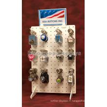 Magasin de cadeaux Comptoir double face Porte-clés blanc Porte-clés Porte-clés en gros