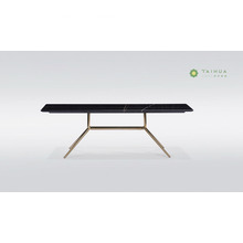 Deep Rectangular Marble Top Coffee Table