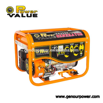 Power Value 12v hand Gasoline Generator 5.5hp 168F