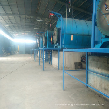 Continuous pyrolyze machine for the tyre and plastic to get diesel for trucks