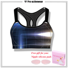 High quality Polyester Lycra Custom Brand Sports Bra