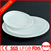 P&T wholesale restaurants plates, oval porcelain dinnerware, dishes