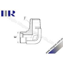 90 degrés coude métrique / NPT mâle adaptateur de tube (1CN9)