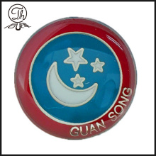 Luxury clutch Moon and star logo pin badge