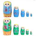 FQ Marke hohe Qualität Großhandel Holz Handwerk japanische hölzerne Verschachtelung Puppe