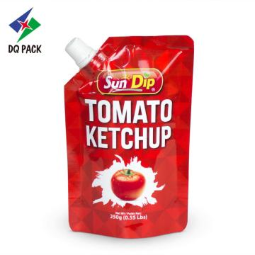 Stand up pouch with spout for tomato ketchup