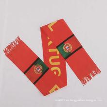 MOQ bajo logotipo personalizado poliéster al por mayor bufanda deportiva