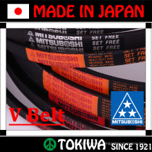 Orange & super gold transmission v-belt for farm use. Manufactured by Mitsuboshi Belting. Made in Japan (Agricultural v-belt)