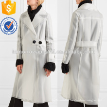 Belted Rubberized PU Coat Manufacture Wholesale Fashion Women Apparel (TA3018C)