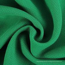 100% poliéster de tela de tela de malla de nido de abeja para el vestido