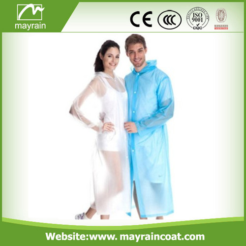 Stock Sale PE Disposable Raincoat