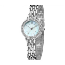 Movimento de quartzo resistente à água Lady Fashion Brecelet Watch