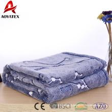 Boutique en ligne chine 100% polyester polaire impression en peluche minky flanelle couverture