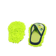 Chenille Linen fabric Mop Slippers Floor Polishing Dusting Cleaning Foot Shoes Mop Slippers