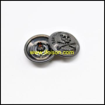 Rápido botón con logo de calavera