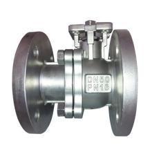 Válvula de bola flotante de 2 piezas con bridas DIN (GQ41F)
