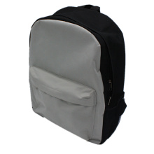 Grey Customized Polyester Boy School Bag Simple Backpack