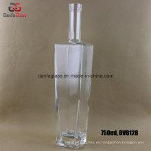 Rectángulo 750ml / botellas rectangulares de licor de vidrio