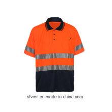 Hi Vis Reflective Safety Work Polo Shirt