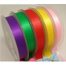 Single face solid satin ribbon for gift decoration/wedding trimmings