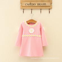 Китай девочек фото платье много девочек полный рукав крошечные Дейзи аппликация новые модели для мамы и дочки
