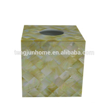 seashell pearl shell tissue boxes gold shell square golden tissue box
