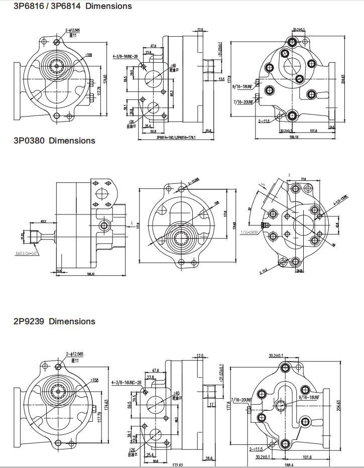 Cat pumps Dimensions-2