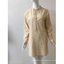 Vestido de viscosa / algodón estampado
