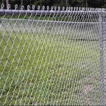clôtures à mailles de chaîne galvanisées et revêtues de PVC