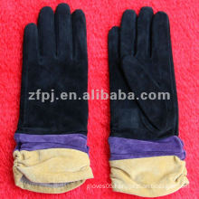 fashion multicoloured sheep suede glove