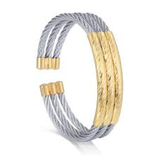 Conjunto de brazalete del festival de brazalete de oro de la pulsera expansible del brazalete de la mano
