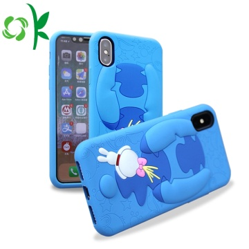 3D Blue Cartoon Silikonfodral För Iphone8 / X / Max