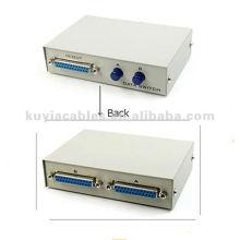 2 Port 25 Pin DB25 Parallel Printer Sharing Switch Box