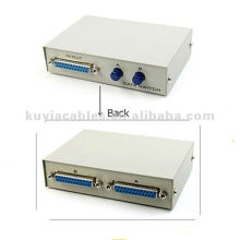 2 Port 25 Pin DB25 Parallel Printer Sharing Switch Box