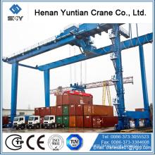 gantry crane 40 ton, double rail crane with 40' spreader