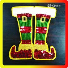 Wholesale Price for Sequin Iron On Patches OEM chrismas shoes patches export to Russian Federation Exporter