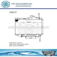 RADIATOR 1641015210/1641015231 pour TOYOTA 84-87 COROLLA Fabricant et vente directe!