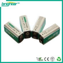 9v 6LR61 alkalische Batterie in China hergestellt