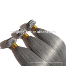 Aliexpress vente chaude maquillage gris cheveux humains armure top qualité perruques de cheveux humains en gros extension de cheveux humains par fabrication