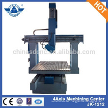 JK-1212W woodworking 3d wood carving real 4 axis cnc