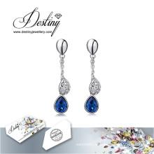 Destino la joyería adornada con cristales de Swarovski pendientes pendientes de temperamento