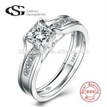 Heißer Verkauf 925 Sterling Silber Designs Bridal Engagement Hochzeit Sterling Silber Ring Geschenk